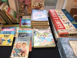 Vintage children's games, books and puzzles.