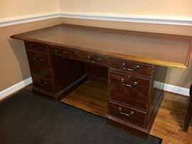 Wood executive desk.