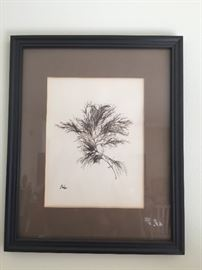 Art were black and white signed by the artist