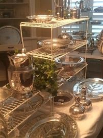 Huge array of silver plate (and some sterling) serving pieces