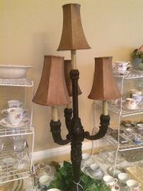 Four-light buffet lamp