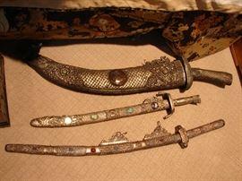 Middle Eastern decorative swords