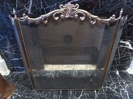 3 FOLD ORNATE FIRE SCREEN - purchased at the Antique Show at the Community House Hinsdale.