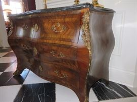 BOMBAY CHEST WITH FAUX MARBLE TOP MAITLAND SMITH FURNITURE COMPANY