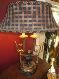 HUNTING LABRADOR DESK LAMP FREDRICK COOPER LAMP COMPANY