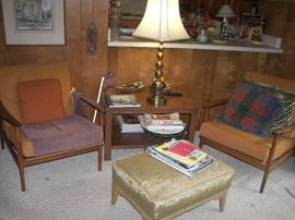 Pair Mid Century Modern Chairs Made and Finished in Denmark.  Imported by Seliq