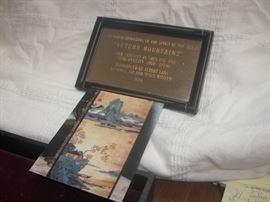 Plaque that hung with piece in the National Air & Space Museum.