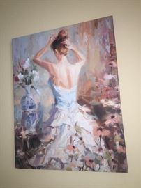 gorgeous acrylic painting, priced accordingly, perfect for a dressing room