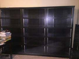 3/4 espresso bookshelves.  These are gorgeous.