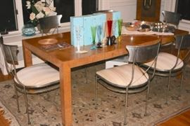 Contemporary Burl Dining Room And Sideboard
