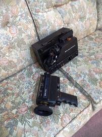 Vintage movie cameras