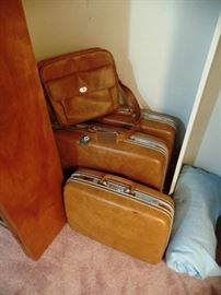 Some of the vintage luggage