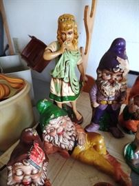 Princess and dwarfs waiting for a new home