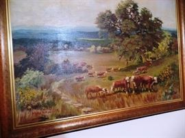 Large Western paintng