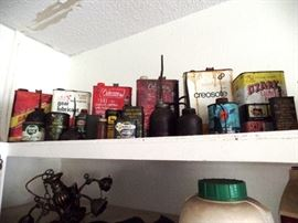 Oil cans galore