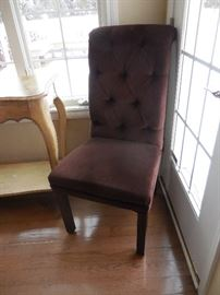 GORGEOUS Burgundy Tufted Back Mitchell Gold + Bob Williams Side Chair (2)