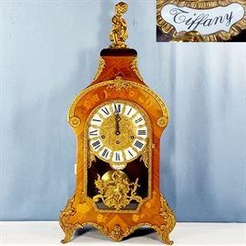 Clock Marquetry Case Bracket Bronze Putti Ormolu