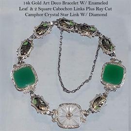 Jewlery Gold Diamond Camphor Glass