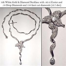 jewelry Gold White 18k Necklace diamonds