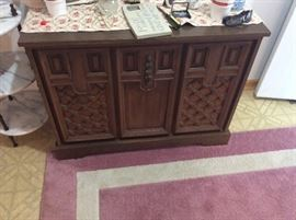 stereo cabinet in entry