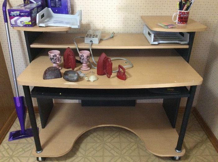Desk - in kitchen
