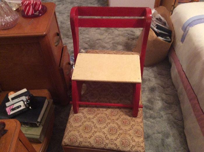 Vintage child's step stool