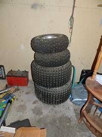 Tires, batteries, etc.