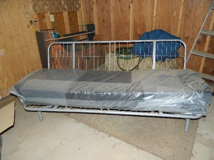Sofa frame and mattress