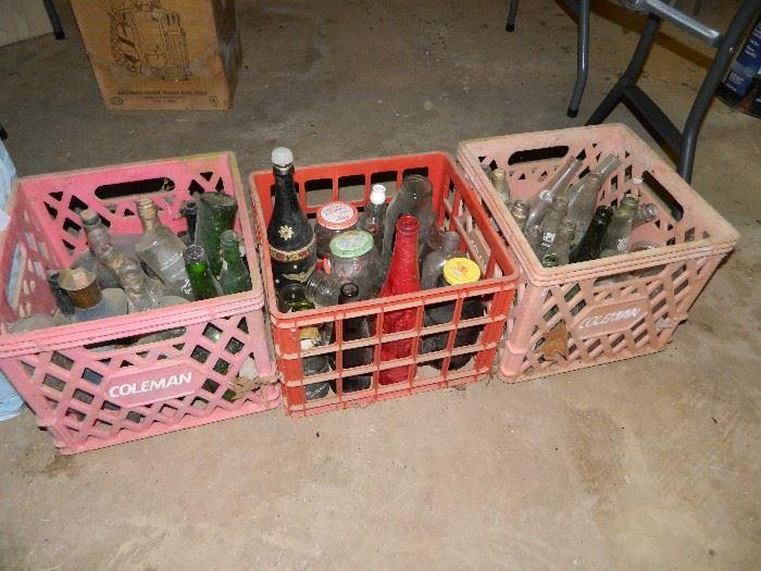 crates, bottles, etc.