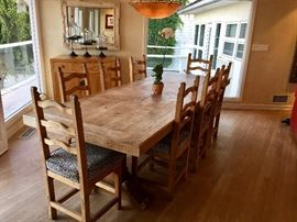 Solid Wood   - Seats 12 - one solid piece
