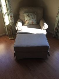 EASY CHAIR AND OTTOMAN