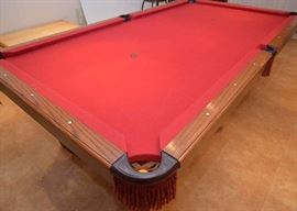 Olhausen Pool Table with Slate Top & Accessories (Very Good Condition)