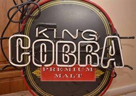 King Cobra Premium Malt Beer Neon Light Bar Sign, (Works!)