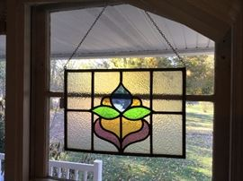 Leaded stain glass