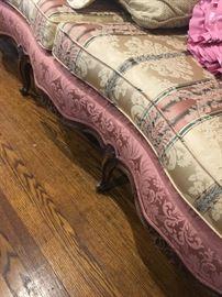 Beautiful Victorian carved wood sofa