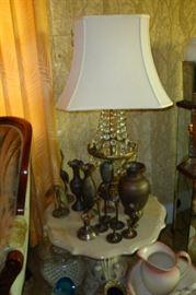 brass, prism lamp