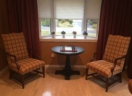 Ethan Allen pair of chairs & round table