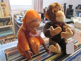 Vintage toy Monkeys
