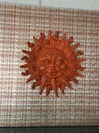 "Sun God wall hanging 29"""
