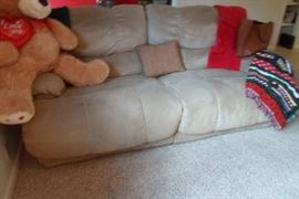 another reclining sofa, a matching pair