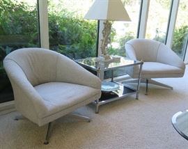 Ward Bennett for Lehigh Leopold lounge chairs 1965