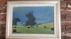 James MC Millian Cades Cove Hay Field  Acrylic on Canvas