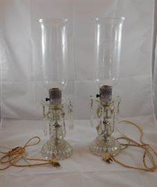 Crystal Hurricane Lamps