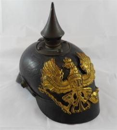 Antique WWI German Pickelhaube Leather Helmet