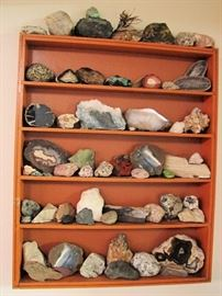 Collection of geodes and rocks