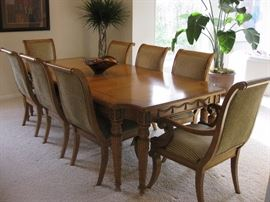 Century Dining room set with 8 chairs