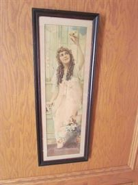 FRAMED / SIGNED BEAUTIFUL VINTAGE  PICTURE OF EARLY MOVIE STAR, MARY PICKFORD
