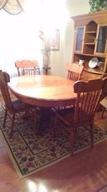 Great table and chair set!  It has 6 chairs but three of them are damaged.(set are busted out)