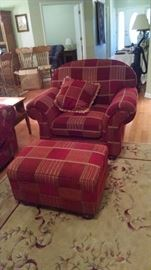Same thing with this chair and ottoman!!  Perfect condition and very comfortable.