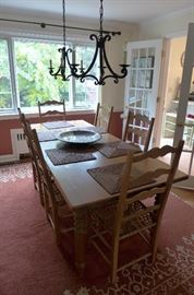 """Camlan French Country Large Pine Table- 84"""" and Expands w/2 12-inch Extensions!"""